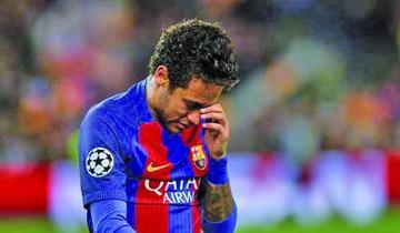 Neymar se perderá el clásico español