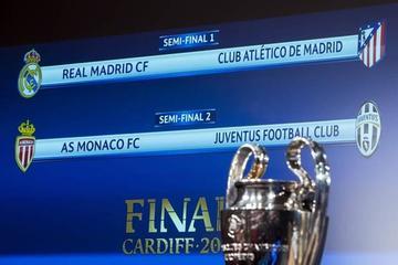 """Real Madrid-Atlético y Mónaco-Juve se enfrentarán en """"semis"""""""