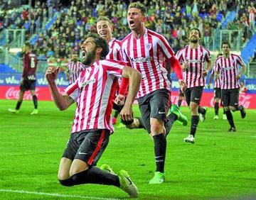 Raúl García le da el triunfo a Athletic de Bilbao