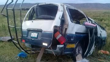 Hay dos muertos por accidente vial en el camino a Desaguadero