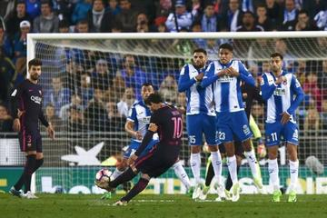 El Barza sigue líder tras someter a Espanyol