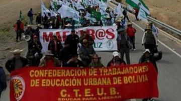 Los maestros urbanos retoman el diálogo con el Gobierno de Morales