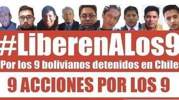 Aceptan recurso de los 9 bolivianos detenidos en Chile y fijan audiencia