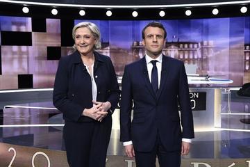 Macron y Le Pen culminan sus campañas electorales en Francia