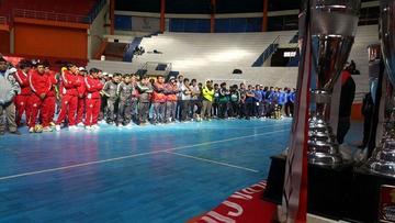 Mineros juegan torneo de futsal