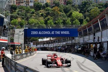 """Kimi Raikkonen logra la """"pole"""" en el Gran Premio de Mónaco"""