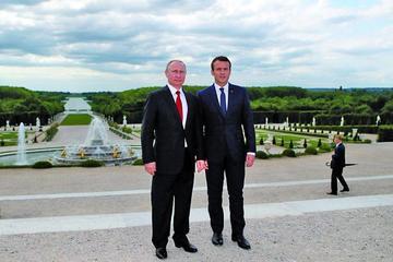 Macron y Putin ven diferencias respecto a temas internacionales