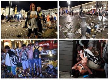 Estampida en Turín deja 1.527 heridos en la Liga de Campeones