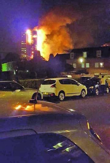 Un incendio devora edificio de 27 pisos en Londres