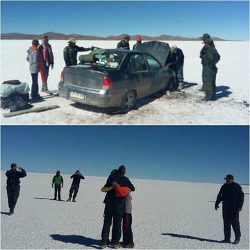Rescatan a turistas que estaban perdidos en el Salar de Uyuni