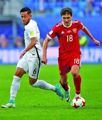Rusia inaugura la Copa Confederaciones ganando