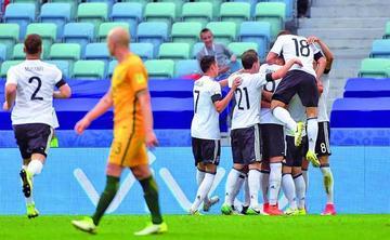 Alemania vence 3-2 a Australia