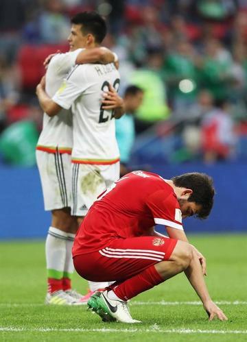 México vence a Rusia y pasa a semifinales