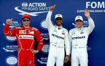 """Hamilton gana la """"pole"""" en el GP de Azerbaiyán"""