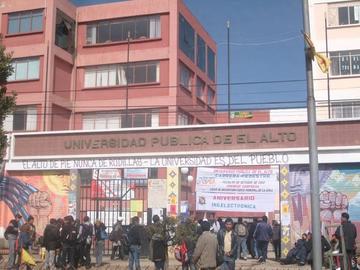 Docentes y administrativos de la UPEA inician huelga