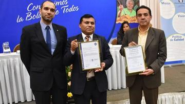 El SIN recibió certificación ISO de Gestión de Calidad