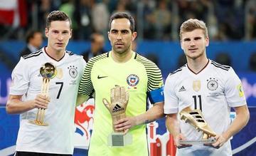 Draxler, Bravo y Werner son los mejores en la Copa Confederaciones