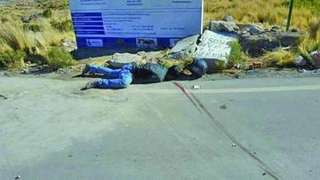 Hallan cadáver de motociclista en la carretera asfaltada Potosí - Uyuni