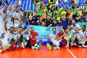 Francia logra el título tras vencer a Brasil en la final de la Liga Mundial de Voleibol