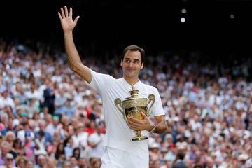 Federer llora tras ganar la final