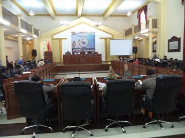 La Asamblea Legislativa Departamental aprueba una ley y 15 informes