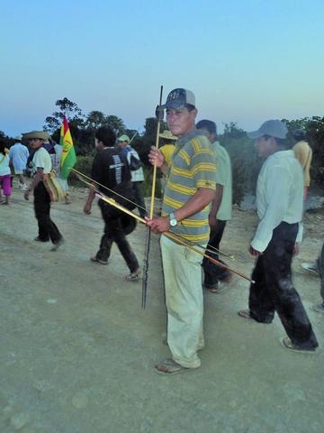 """Indígenas del Tipnis defenderán su territorio """"con arcos y flechas"""""""
