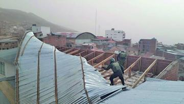 Vientos huracanados generan destrucción en el Departamento