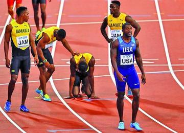 Usain Bolt sufre una dolorosa despedida en Londres