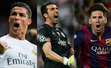 Messi, Cristiano y Buffon son candidatos a mejor jugador de la UEFA