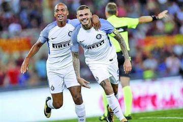 Mauro Icardi lidera la remontada de Inter ante Roma
