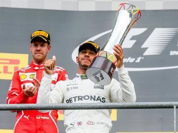 Hamilton gana el Gran Premio de Bélgica