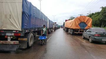 Transporte pesado para sin bloqueos