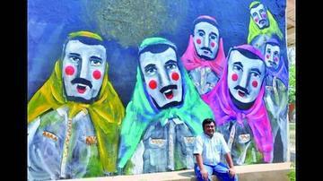 Se pinta un mural para homenajear al  personaje del Abuelo en San José