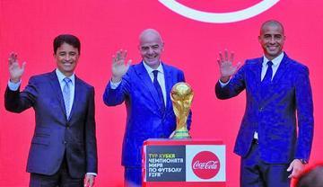 El trofeo del Mundial 2018 inicia su gira