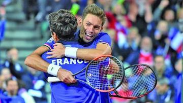 Francia y Australia están a un paso de conquistar la final de la Copa Davis