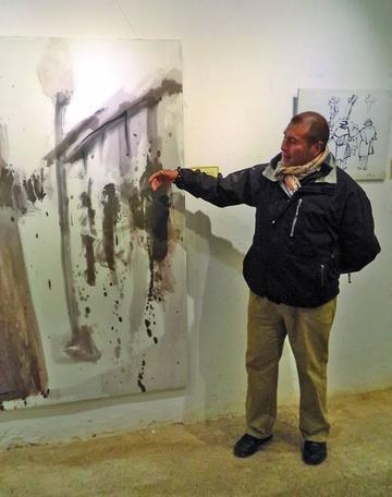 Artista potosino expone obras en Casa de Moneda