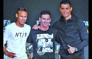 Ronaldo, Messi y Neymar pelean por el premio