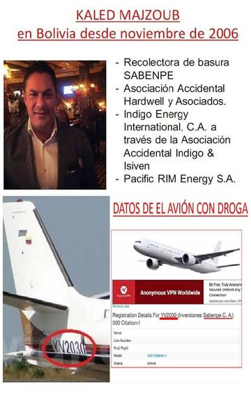 Afirman que dueño de avión con droga tiene contratos en Bolivia