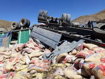 Accidente de un camión provoca dos fallecidos