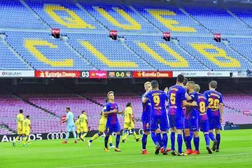 """Barcelona suma en pleno silencio del """"Camp Nou"""""""
