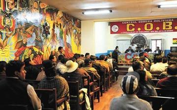 Fracasa el ampliado de la COB por inasistencia de delegados a Potosí