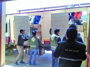 Senasag confisca más de 12 toneladas de productos