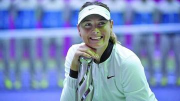 María Sharapova gana título tras dopaje