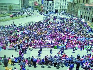 """Organizaciones recuerdan a caídos en la """"Guerra del Gas"""""""