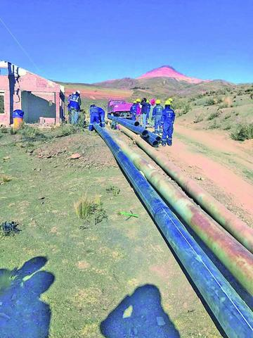 Aducción La Palca - Potosí tiene un avance del 75 %