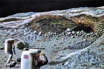 Descubren una rara caverna-refugio en el extremo cercano de la Luna