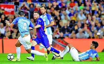Barcelona gana a Málaga y afianza su liderato