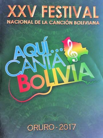 Premian en Oruro a los ganadores del XXV Festival de la Canción Boliviana