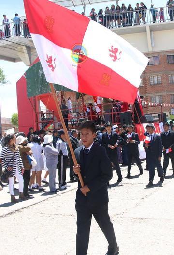 Celebran el Día de la Bandera Potosina