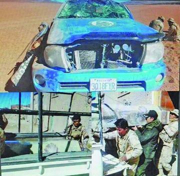 Polícía de frontera muere y hay otros cuatro heridos tras vuelco